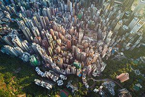 Aerial scene of Hong Kong, Victoria Peak