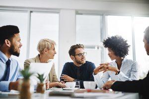 Team Brainstorming at Meeting
