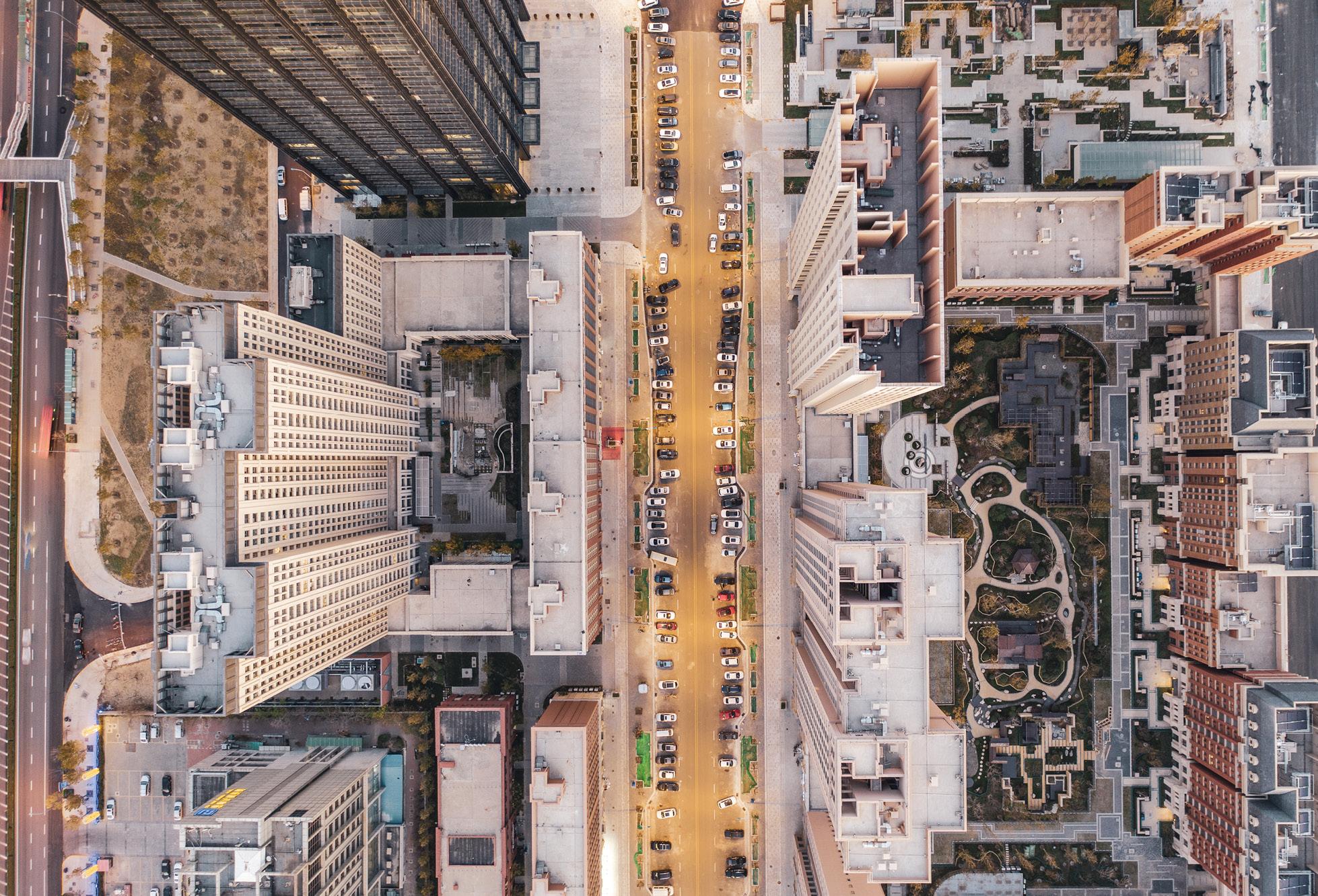aerial buildings, property, real estate