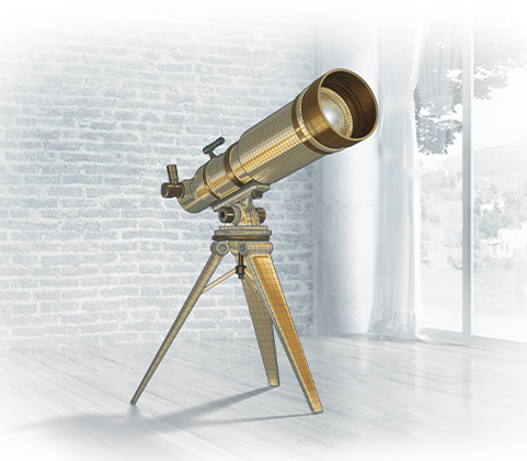 Aus_Wireframe_Telescope_Gold