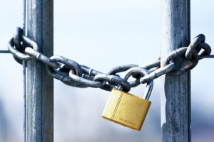 gold padlock chain