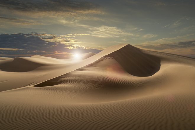 The Empty Quarter, or Rub al Khali, is the world's largest sand desert encompassing most of the southern third of the Arabian Peninsula.
