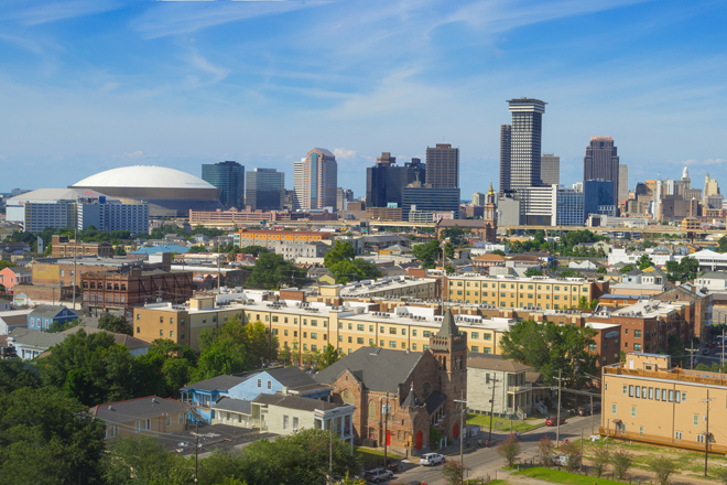 Beautiful New Orleans, Louisiana Downtown Skyline