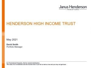 Henderson High Income Trust – Fund Manager AGM presentation