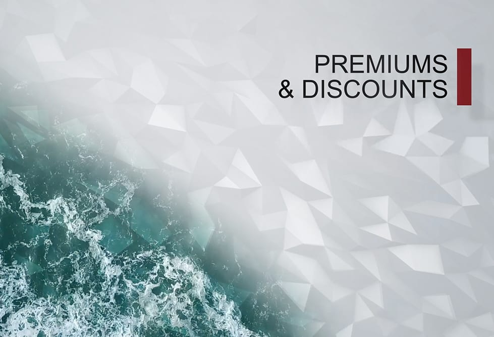 Premiums and discounts explained