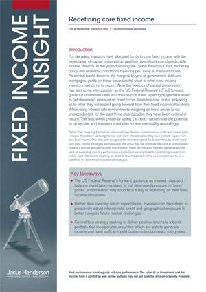 Fixed Income Insight: Redefining core fixed income   Janus Henderson Investors