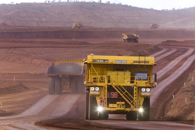Rio Tinto - Autonomous Haulage Trucks, West Angelas minesite; credit Christian Sprogoe Photography