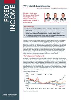 Why short duration now | Janus Henderson Investors