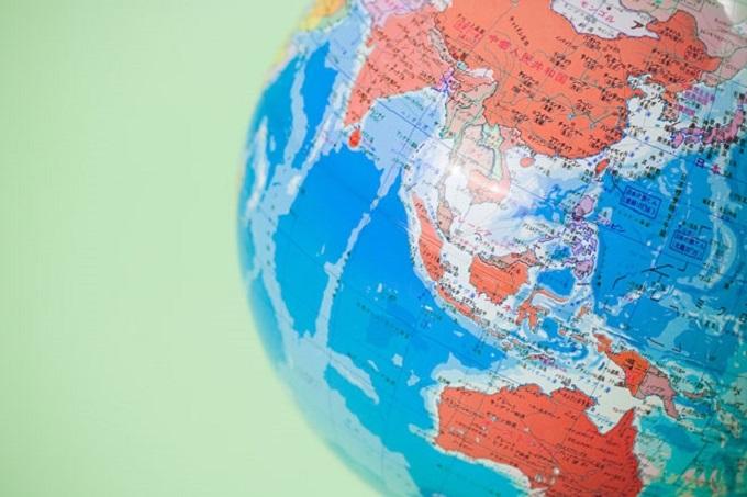 Asia Pacific globe map