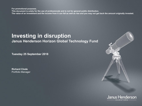 Invest in the power of disruption   Janu Henderson Investors